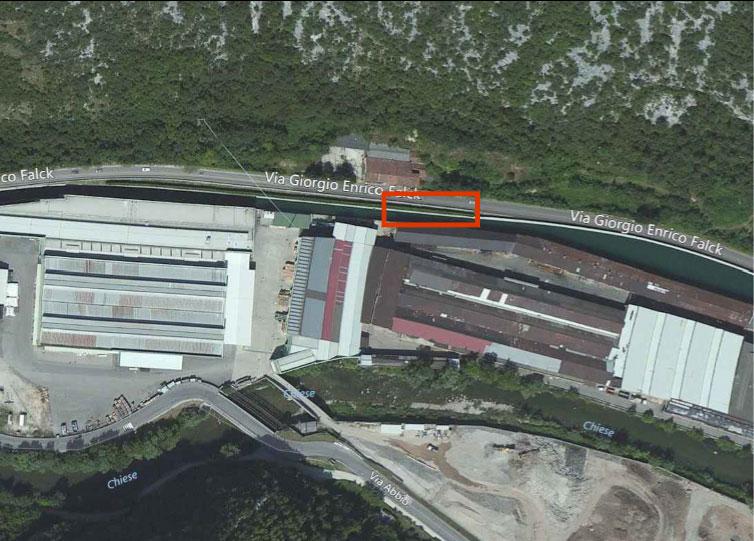 Lavori di somma urgenza per il ripristino del muro spondale del canale di derivazione dal fiume Chiese alla centrale idroelettrica Falck