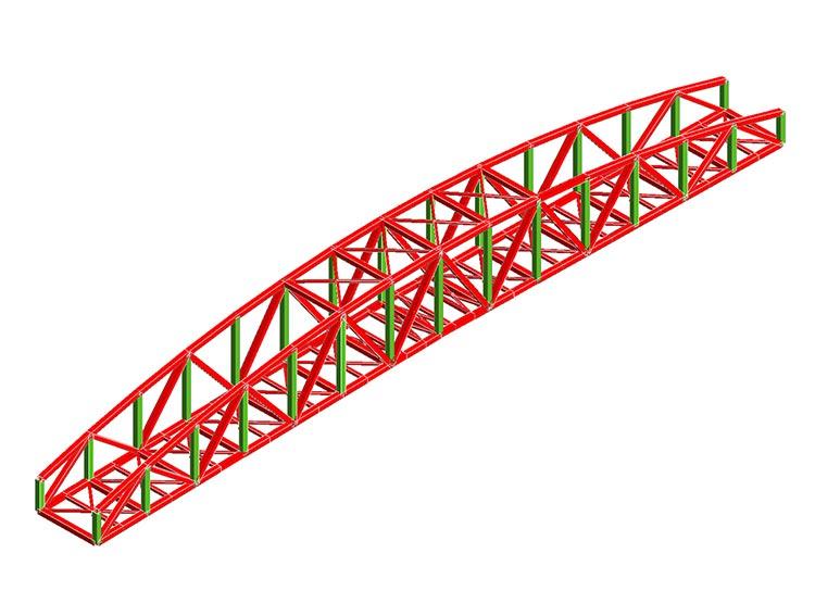 Realizzazione di un ponte ciclopedonale sul fiume Chiese